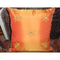 40X40 Cover Orange espejos flores