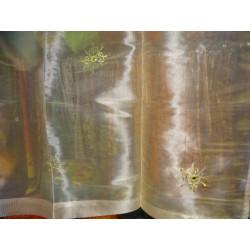 Juego de 2 pilares pintado en relieve
