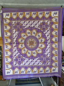 wall hanging Mosaic camel purple and orange