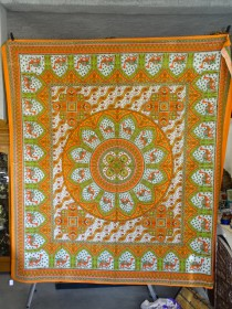 wall hanging Mosaic camel verde and orange