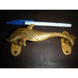 bronce manejar pequeño delfín de oro