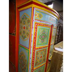 Manija de bronce de animales maracasse músico verde