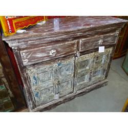 Jar Agua peinte mano  negro (GM)