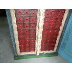 Puerta de madera de teca de vidrio huesos de camellos