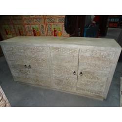 Teca armario puerta y hueso de camello