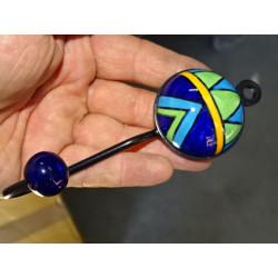 Cubra naranja follaje bordado 40x40 cm