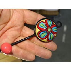 Cubierta follaje 40x40 cm bordado ladrillo