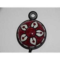 Cubra flor grande 40x40 cm brocado de oro