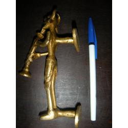 Pedestal (60 cm) de color turquesa cajón perla