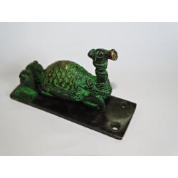 Candado de bronce Ganesh verde