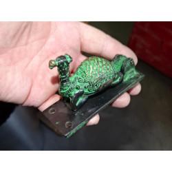 Candado de bronce Ganesh oro