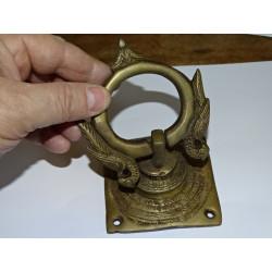 Candado de bronce Saraswati verde