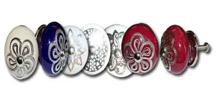 Gran porcelana botón y metal