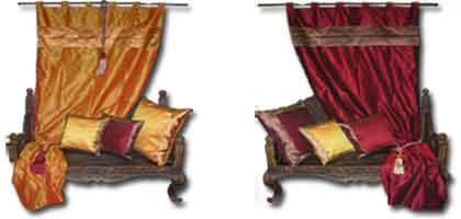 cortinas de brocado