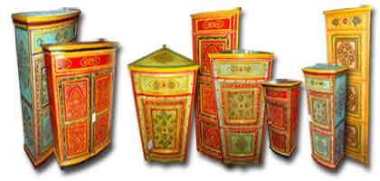 Muebles pintados india