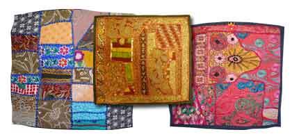 Vieja cubierta de tela Gujarat