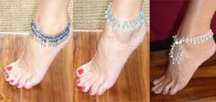 Pulseras de tobillo de la India